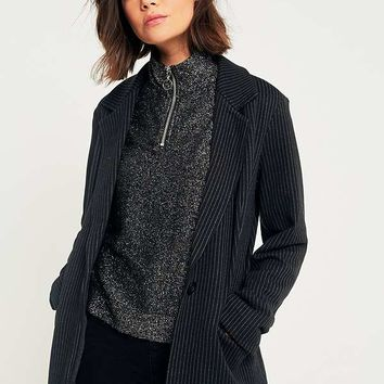 Light Before Dark Pinstripe Jersey Blazer | Urban Outfitters