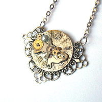 "Victorian Steampunk Necklace ""The Passage of Time"" No. 2"