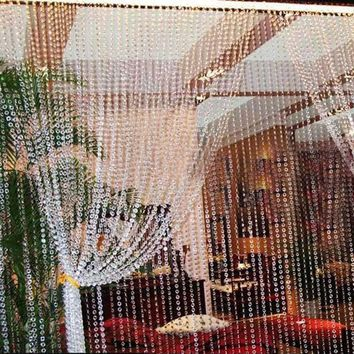 99FT 30M Octagonal Acrylic Crystal Beads DIY Curtain Home Festive Party Wedding Decor Curtains for Living Room Garden