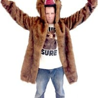 Workaholics Blake Bear Coat Adult Costume  - Workaholics - | TV Store Online