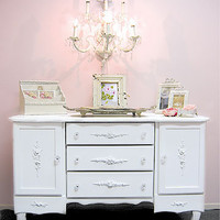 Bella Rose Credenza in White - The Bella Cottage