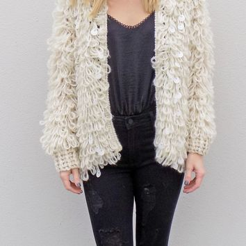 Own The World Fuzzy Jacket {Neutral}