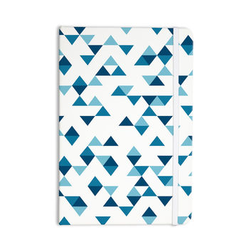 """Project M """"Triangles Blue"""" Navy White Everything Notebook"""