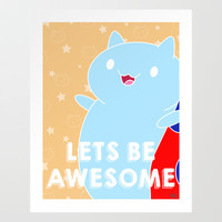Catbug - Lets be Awesome  Art Print by PFKimmerle