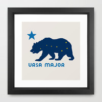 ursa blue Framed Art Print by holli zollinger