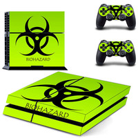 Biohazard decal for PS4 console & condrollers skin sticker