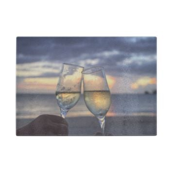 Cheers On The Beach Glass Cutting Board