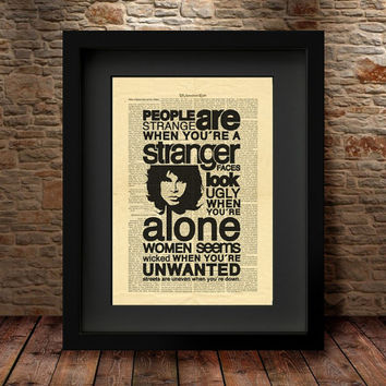 Jim Morrison, The Doors, Jim Morrison Art, Wall Decor, Art Print, Dictionary Art Print, Home Decor, Dictionary Page, Dictionary Print -23