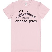 A Mean Girl's Cheese Fries-Female Light Pink T-Shirt