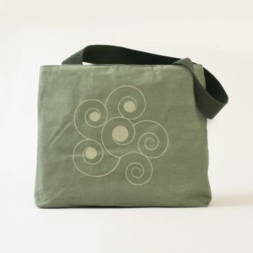 Floral Canvas Utility Tote