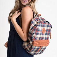 Let's Adult Today Plaid Backpack
