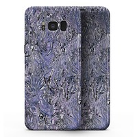 Abstract Wet Paint Purples v3 - Samsung Galaxy S8 Full-Body Skin Kit