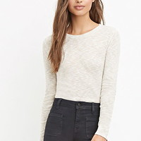 Ribbed Slub Knit Top