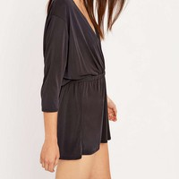 Silence + Noise Tangled Up Green Playsuit - Urban Outfitters