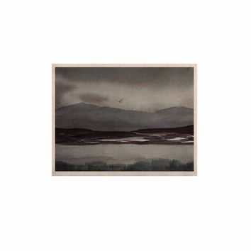 """Cyndi Steen """"Gray Landscape """" Gray Watercolor Painting KESS Naturals Canvas (Frame not Included)"""