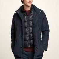 Nylon puffer field jacket