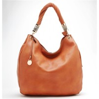 HauteChicWebstore Silky Look Large Womens Hobo Bag Orange - www.shophcw.com