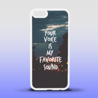 Your Voice Is My Favorite Sound Phone Case