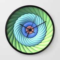 Twisted Wall Clock by Lyle Hatch | Society6