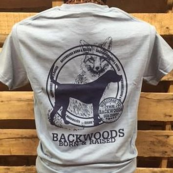 Backwoods Born & Raised Fox & Dog Unisex Bright T Shirt