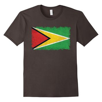 Guyana Flag T-Shirt in Vintage Retro Style