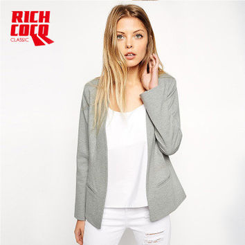 Fashion Slim Long Sleeve v-Neck Solid Button Business Casual Suit Outerwear Jacket a13224