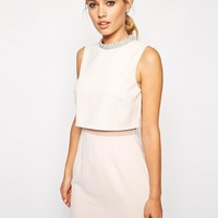 ASOS | ASOS Embellished Stand Collar Dress at ASOS