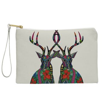 Sharon Turner Poinsettia Deer Pouch