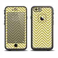 The White & vintage Green Sharp Chevron Pattern Apple iPhone 6/6s LifeProof Fre Case Skin Set