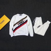 FENDI autumn and winter tide brand embroidery letters casual fashion sportswear two-piece