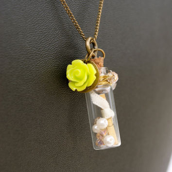 Bridesmaid Message in a Bottle Necklace-Personalized Necklaces