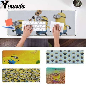 Yinuoda In Stocked minion 4 Unique Desktop Pad Game Mousepad Gaming Mouse Pad Desk Mat for CSGO Game Player PC Computer Laptop