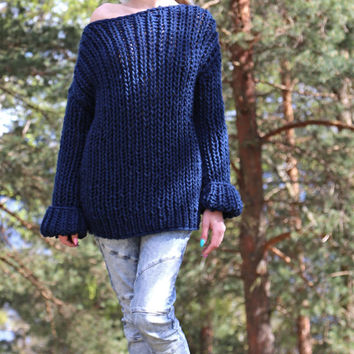 PDF pattern. Hand knitted long sleeve sweater and hat set. Digital pattern from Ilze Of Norway.