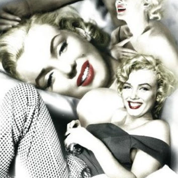 MARILYN MONROE POSTER Red Lips Collage RARE HOT NEW 24x36