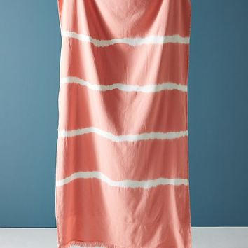 Stripe-Dyed Beach Towel