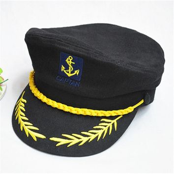 American army cap woolen warm winter captain hat crown Royal Navy cap military hat for male wool keep warm police hat