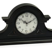 "15"" Mantel Clock, Black, Clocks"