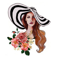 Lana Del Rey Stretched Canvas by Christian Cimoroni