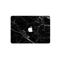 BLACK MARBLE MACBOOK STICKERS