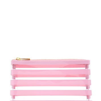 Striped Clear Makeup Bag