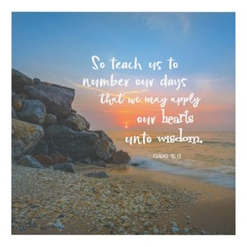 Number Our Days Psalms Bible Verse Panel Wall Art