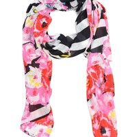 Stripe Floral Scarf by Juicy Couture