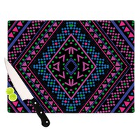 "Nika Martinez ""Neon Pattern"" Cutting Board"