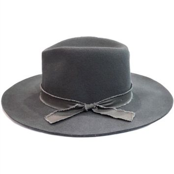 Grey on Grey Panama Hat