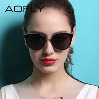AOFLY Sunglasses Cat Eye Sunglasses Women Oval Glasses Retro Female Sun Glasses Luxury Fashion Women Eyeglasses oculos feminino