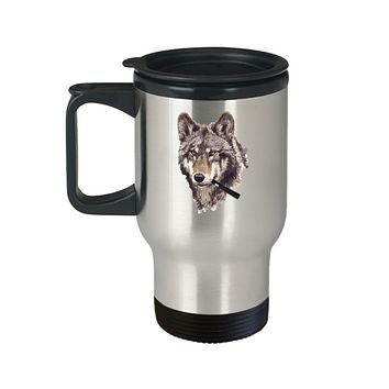 Wolf Vape Pen Smoking Pretty Travel Mug