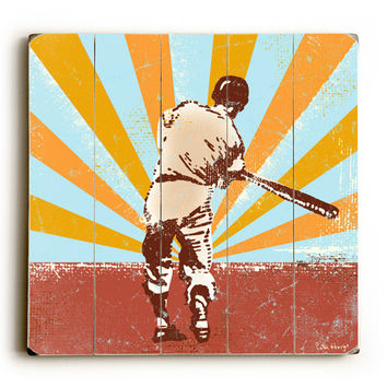 Baseball Legend by Artist Peter Horjus Wood Sign