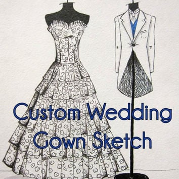 Personalized & Handmade Wedding Gown Portrait