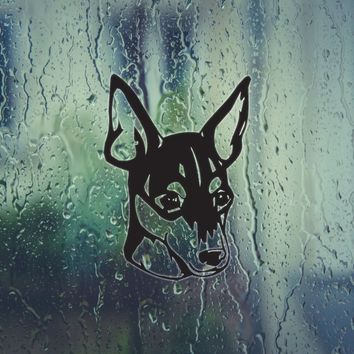 Toy Fox Terrier Dog Vinyl Wall Decal (Permanent Sticker)