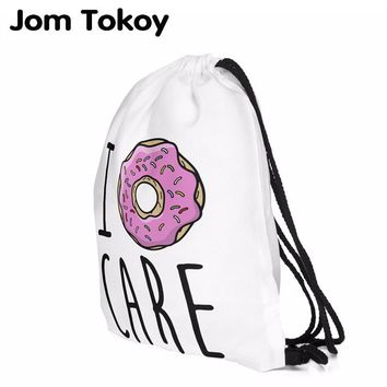 2017 new fashion escolar backpack 3D printing travel softback women mochila donut  drawstring bag backpacks for teenage girls